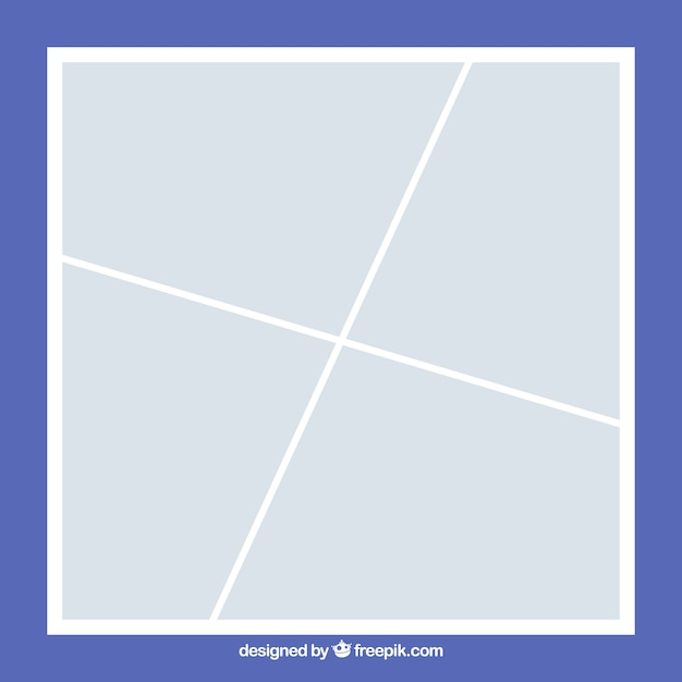 white photo frame collage template vector free download