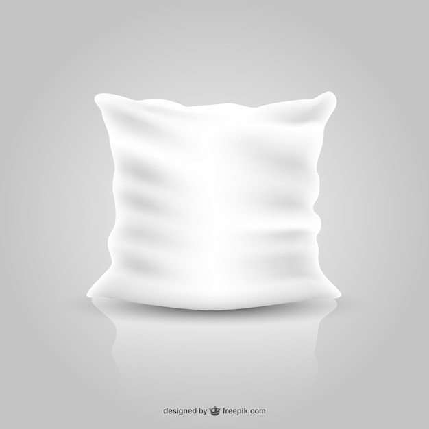 White pillow  Free Vector