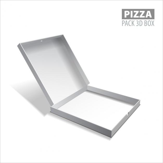 White pizza box Free Vector
