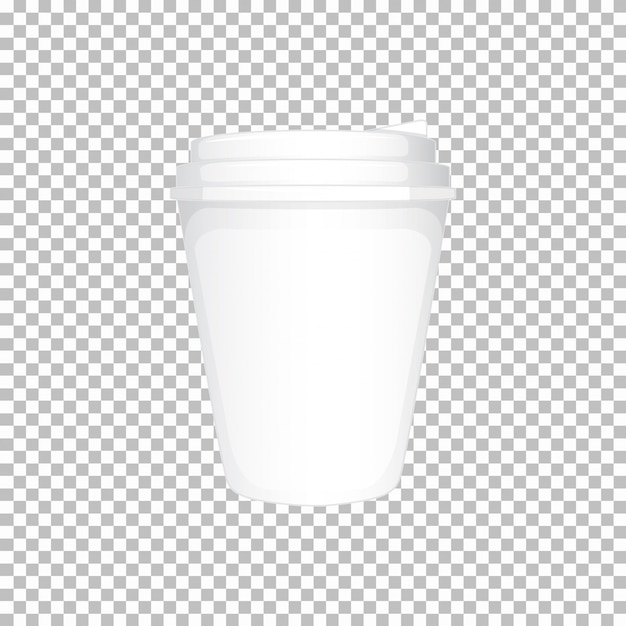 White plastic cup with lid Free Vector
