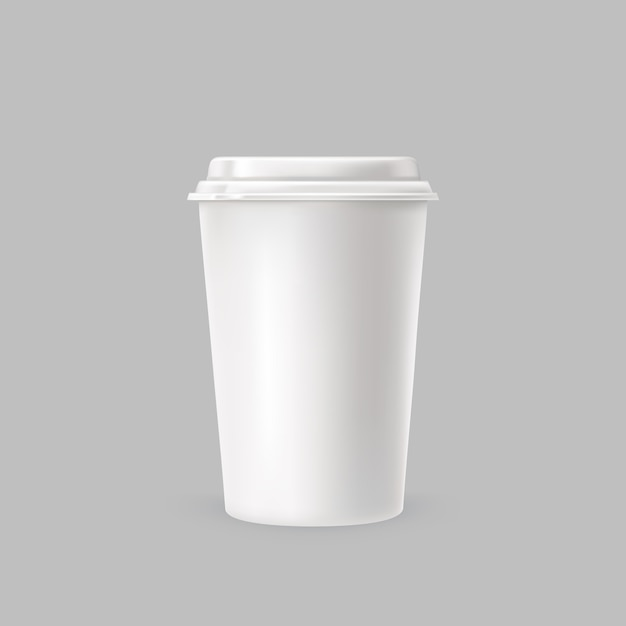 White plastic cup Free Vector