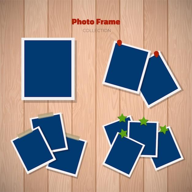 White polaroid photography frames Free Vector