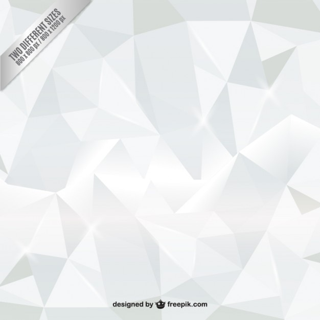 white polygons background vector | free download