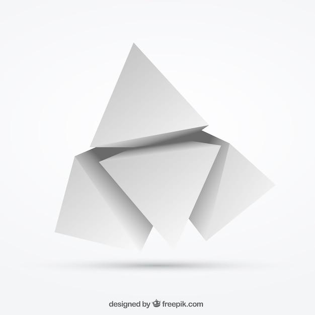 White polygons Premium Vector