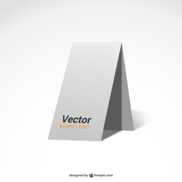 White poster blank mock-up template Vector | Free Download