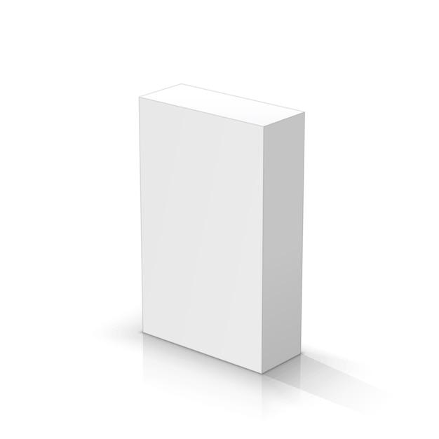 White rectangular parallelepiped Premium Vector