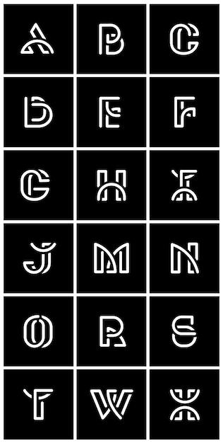 White retro alphabets vector set Free Vector
