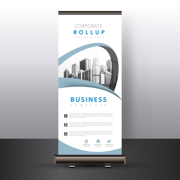 White roll up banner Free Vector