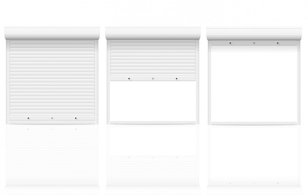 White rolling shutters vector illustration Premium Vector