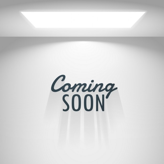 white room with light and coming soon text vector free download