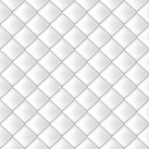 White seamless tiles pattern Premium Vector