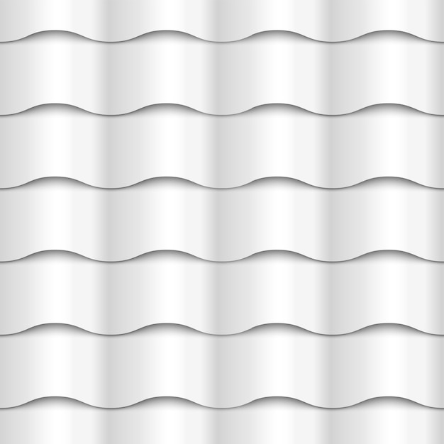 White seamless wavy pattern paper texture Premium Vector