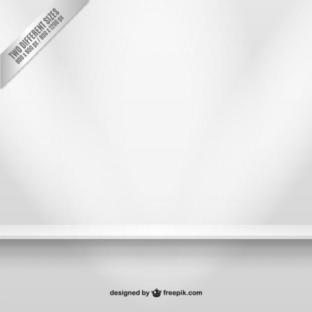 White shelf background Free Vector