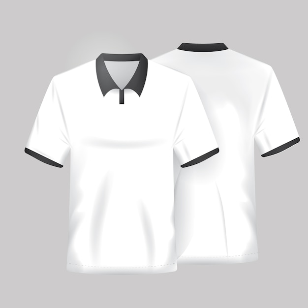 White shirt template Free Vector