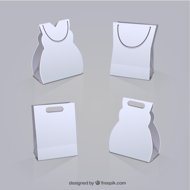 White shopping bags Vector | Free DownloadWhite Paper Bag Vector