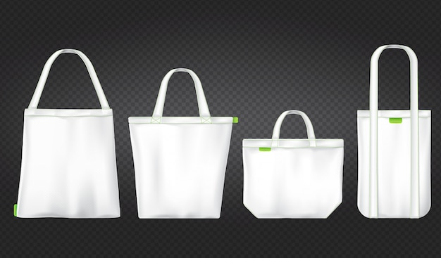 White shopping eco bags Free Vector