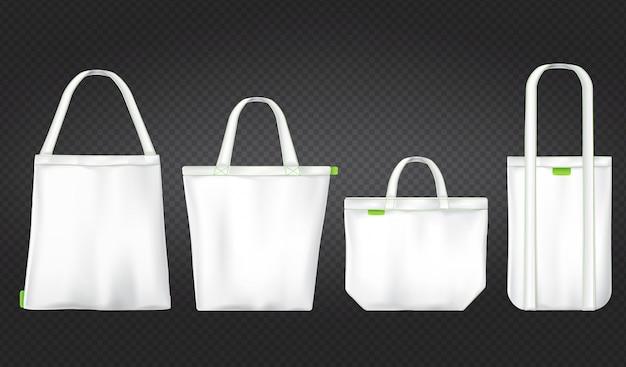 Shopping bag ecologiche bianche Vettore gratuito