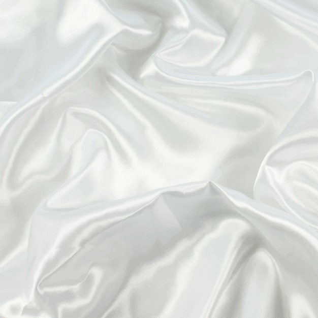 White silk background Free Vector