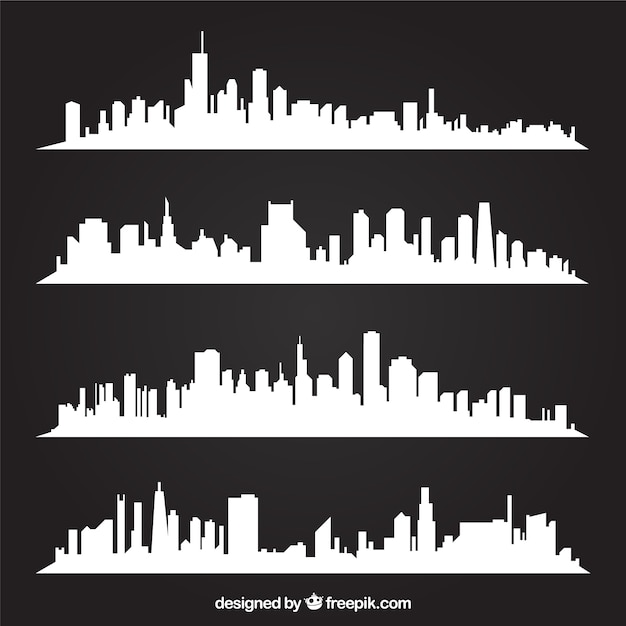 White skylines Free Vector