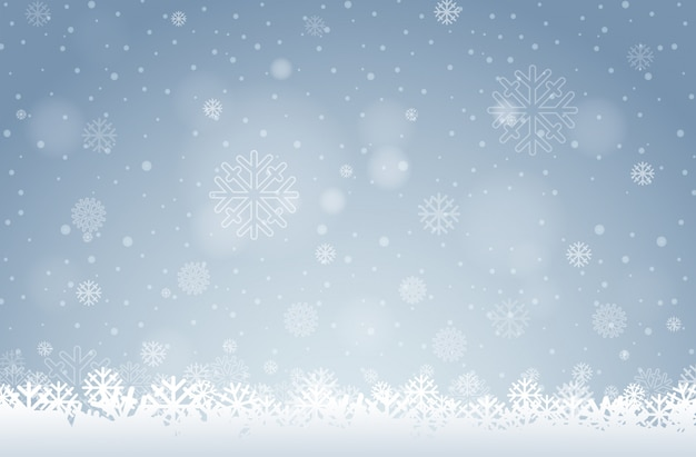 A white snowflake background Free Vector