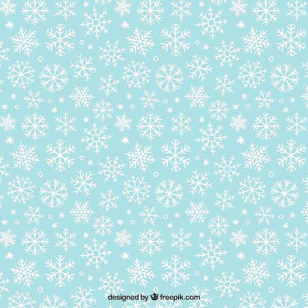 White snowflakes pattern Free Vector