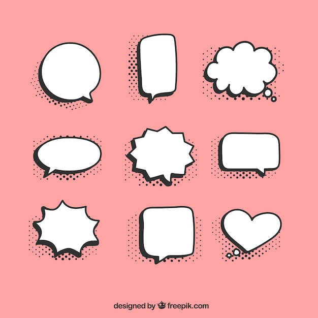 White speech bubbles collection