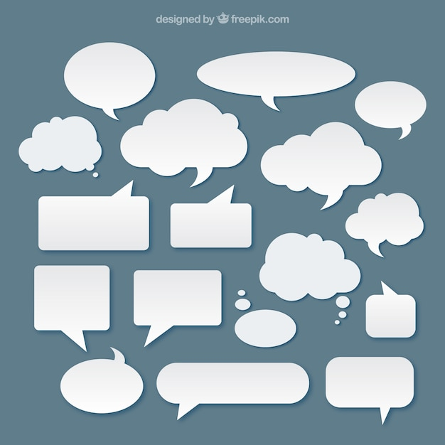 White speech bubbles Free Vector