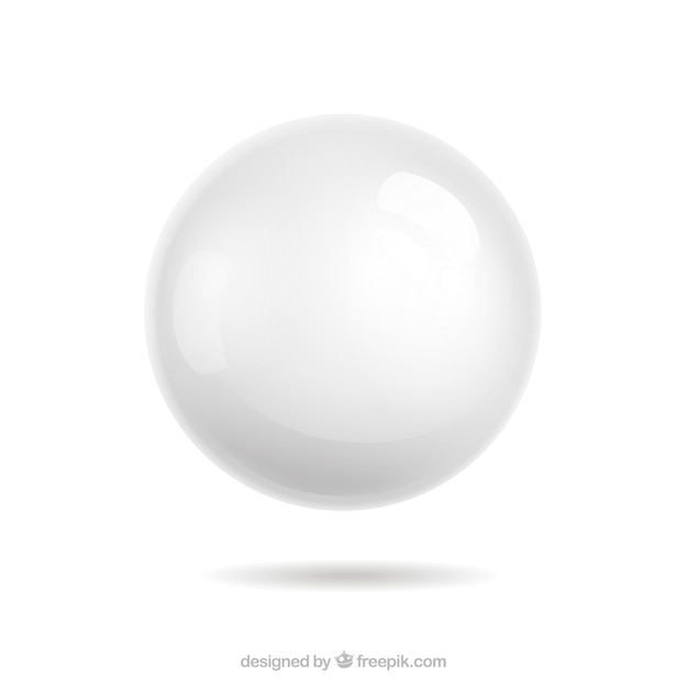 White sphere Free Vector