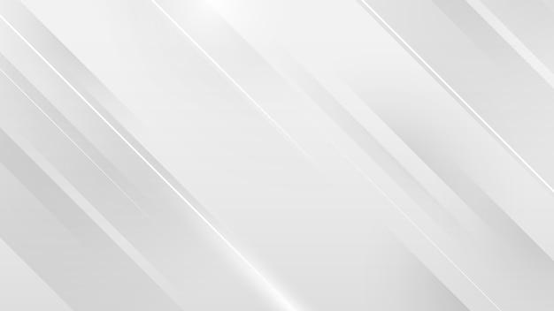 白い正方形の抽象的な技術コンセプトの背景 Premiumベクター