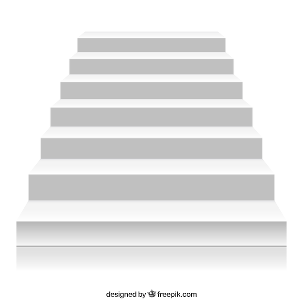 White stairs Free Vector