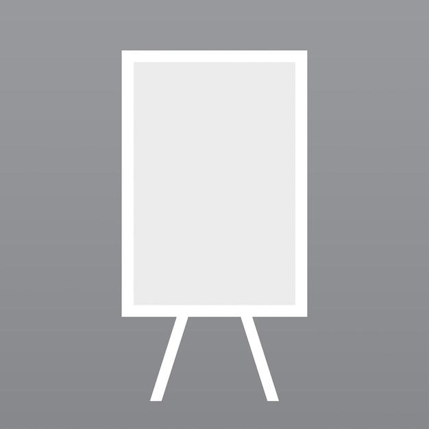 Белый дизайн совет макете Бесплатные векторы