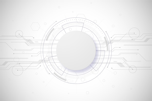 White technology background concept Free Vector