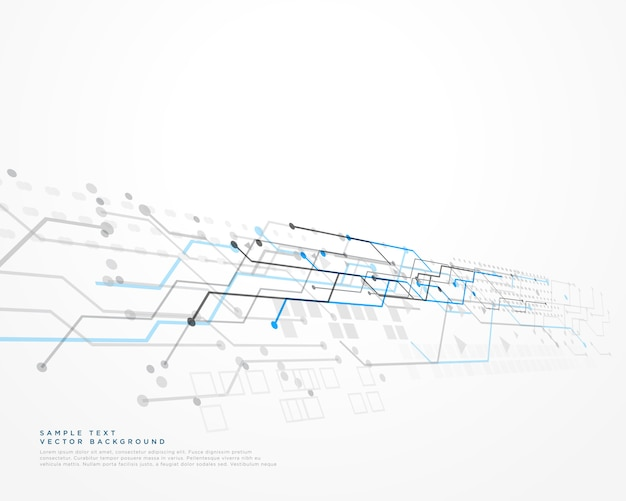 White technology background with mesh diagram Free Vector