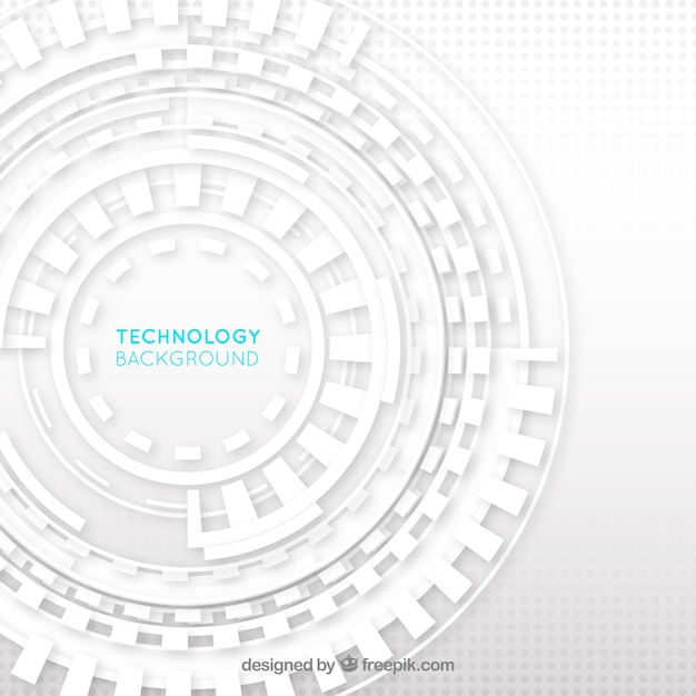 Technology background white