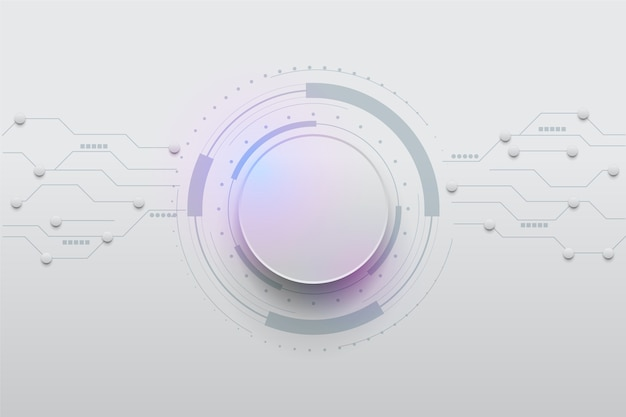 White technology background Free Vector