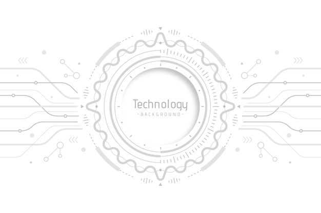 White technology concept for wallpaper Free Vector