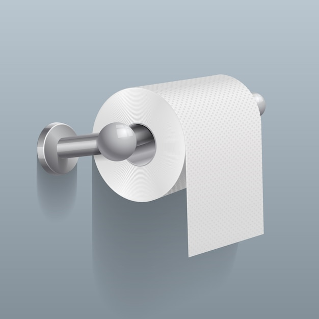 White toilet paper roll Premium Vector