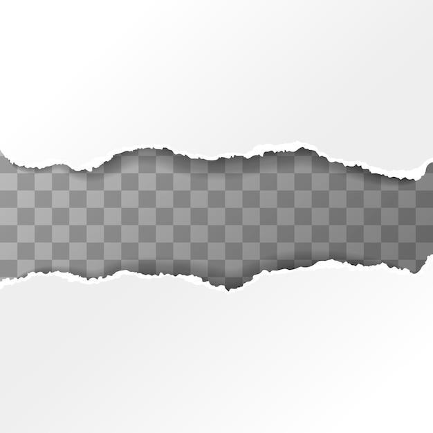 Белые рваные кусочки бумаги Premium векторы