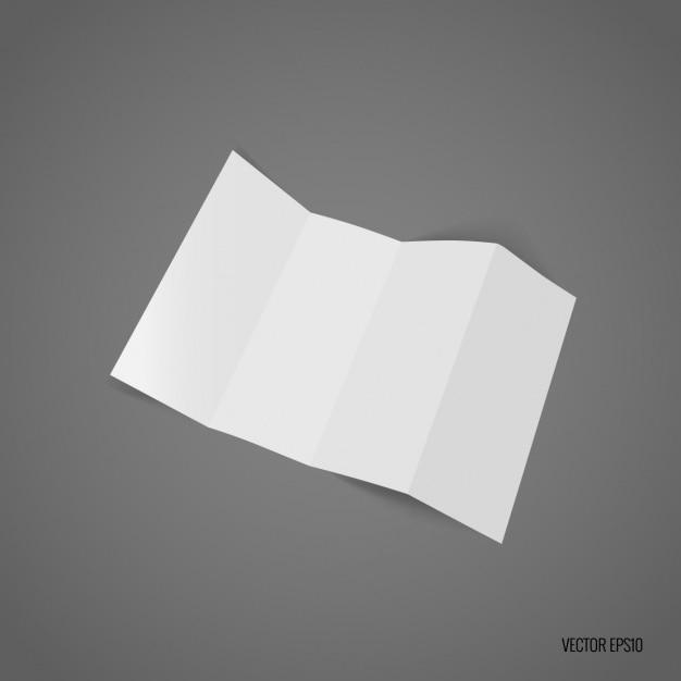 Trifold bianco modello di progettazione Vettore gratuito