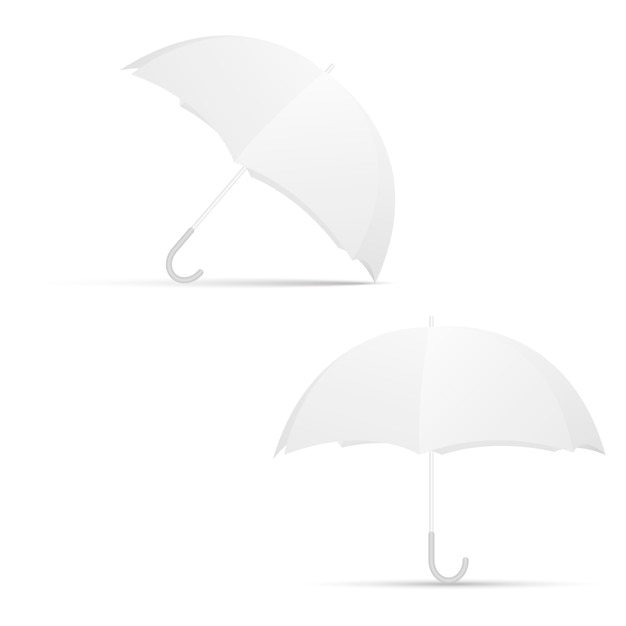 White Umbrella Blank Template Vector Premium Download