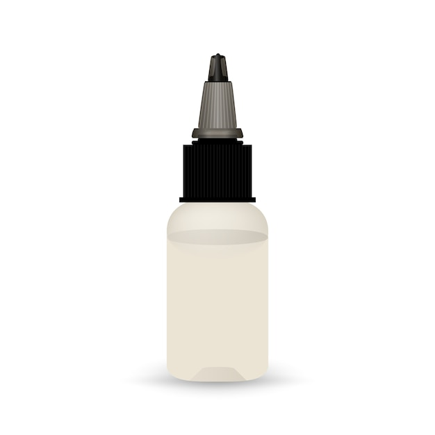 White vape bottle with liquid. Free Vector