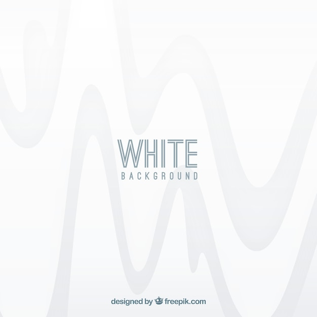 White wave abstract background