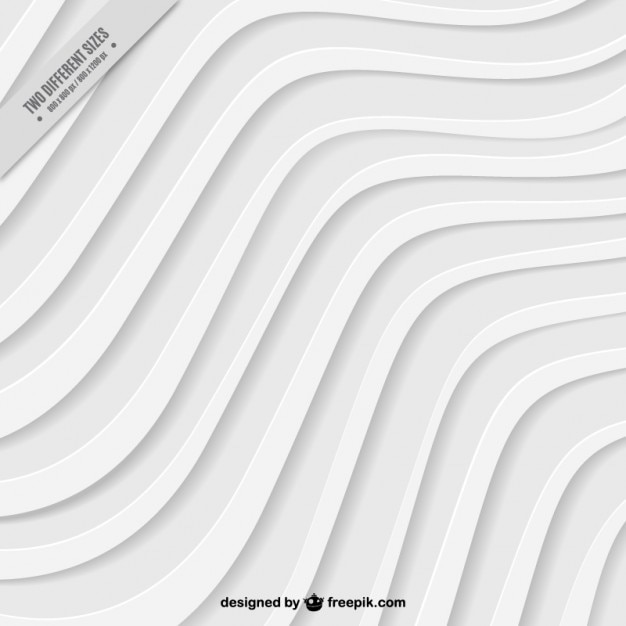 White waves background Free Vector