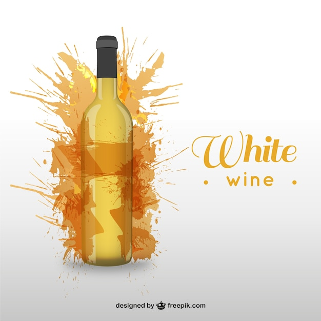 White wine bottle Vector | Free Download