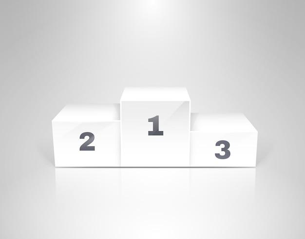 ビジネスコンセプトのベクトル図の白い勝者表彰台 Premiumベクター