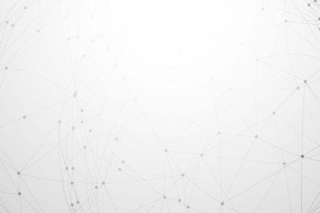 Белый с низкополигональным сетевым подключением Бесплатные векторы