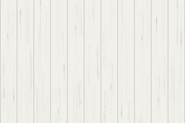 White wood plank texture for background. Premium Vector