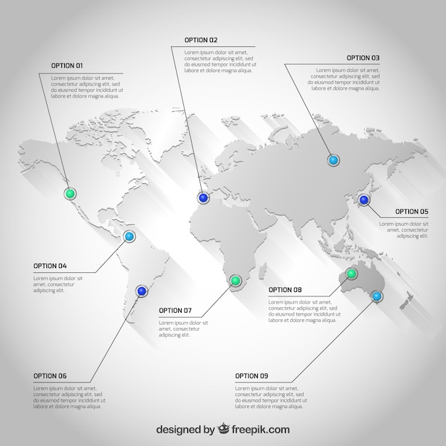 White world map infographic vector free download white world map infographic free vector gumiabroncs Image collections