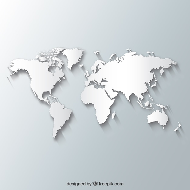 White world map vector free download white world map free vector gumiabroncs Choice Image