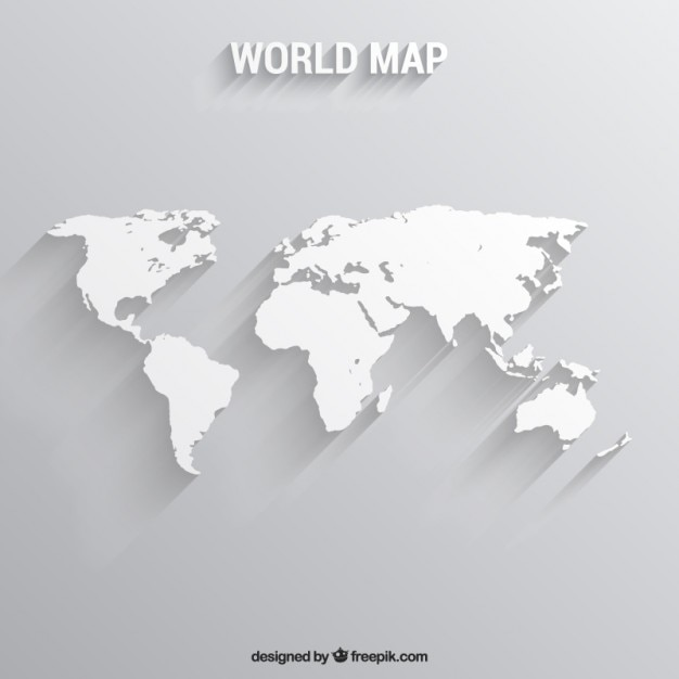 white world map free vector